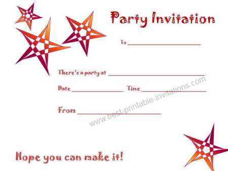 Free Printable Birthday Party Invitations For Adults