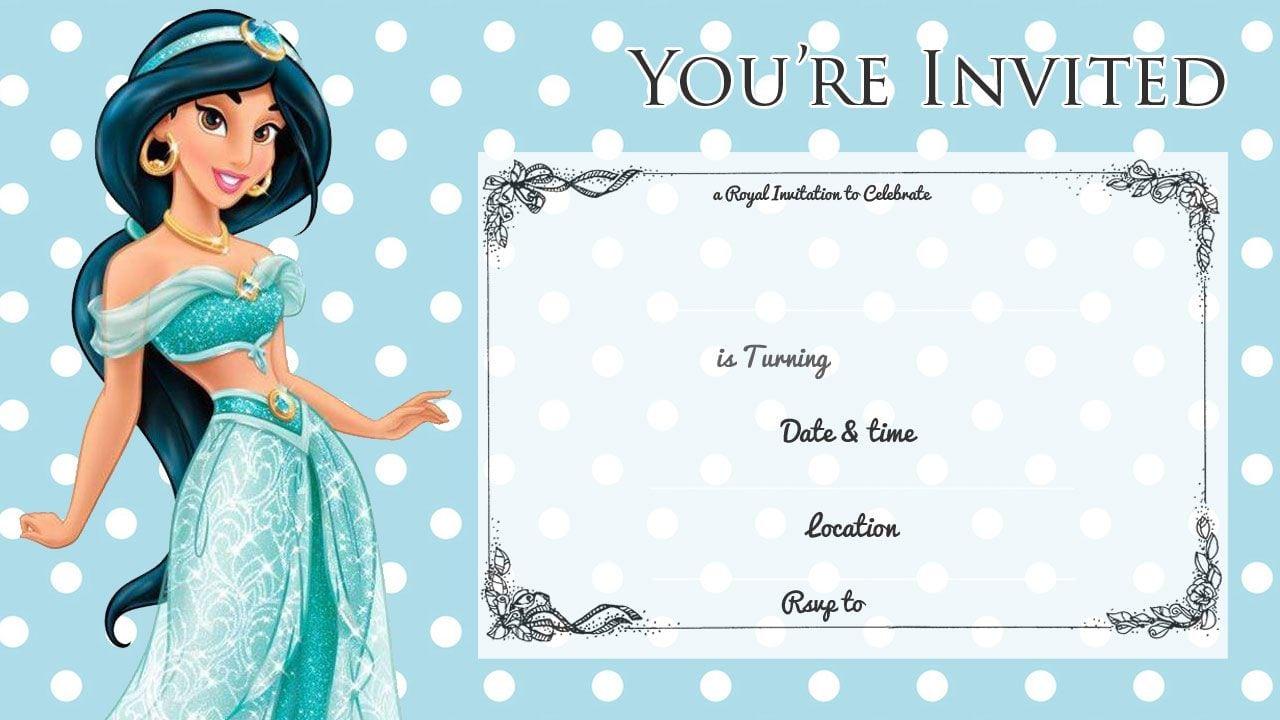 Princess jasmine birthday party invitations stopboris Image collections