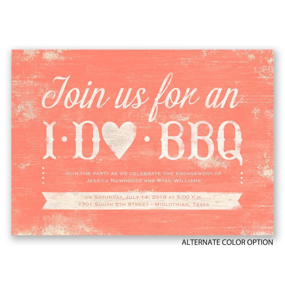 I Do Bbq Engagement Party Invitation