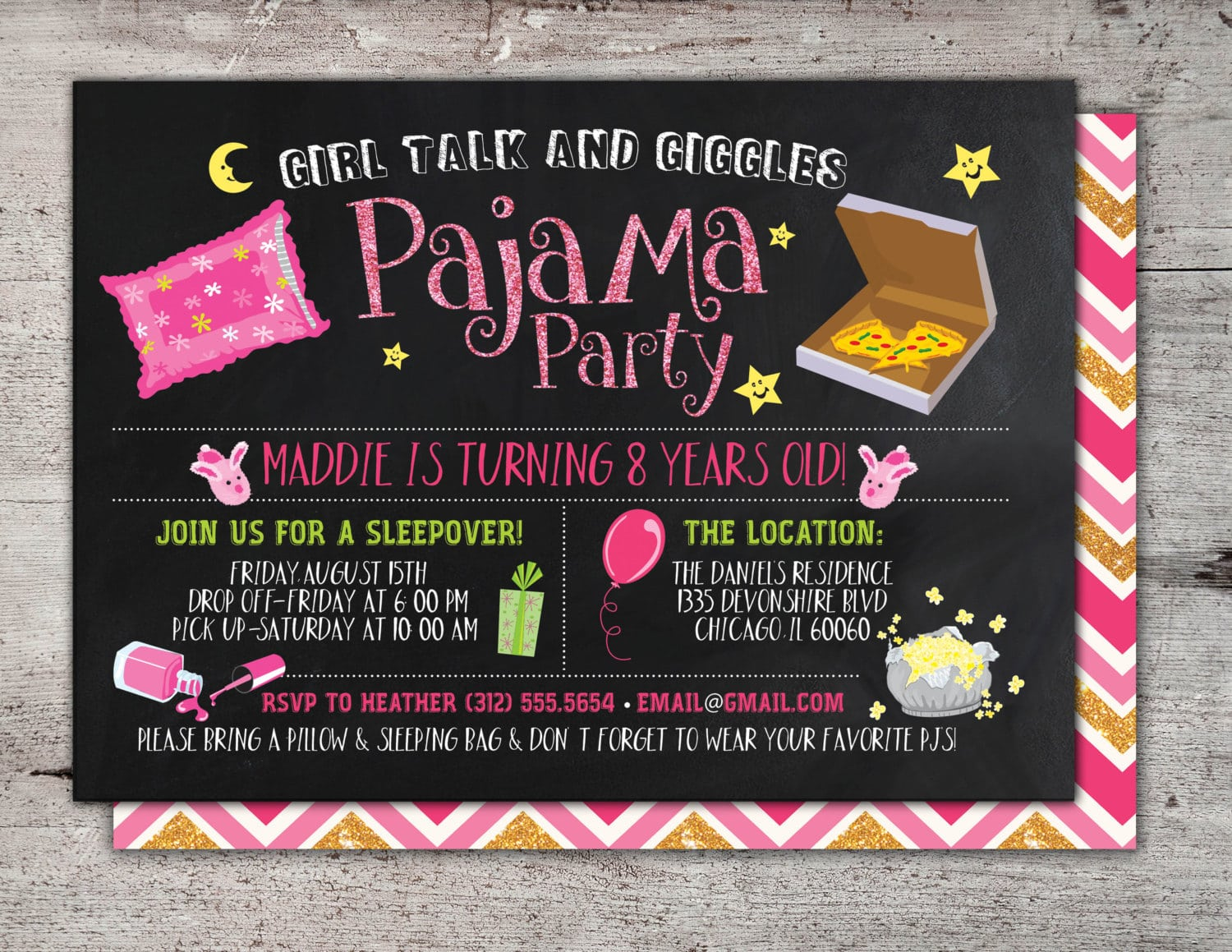 Image Result For Teen Sleepover Invitations
