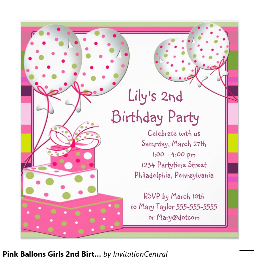 Invitation Card To Birthday Party