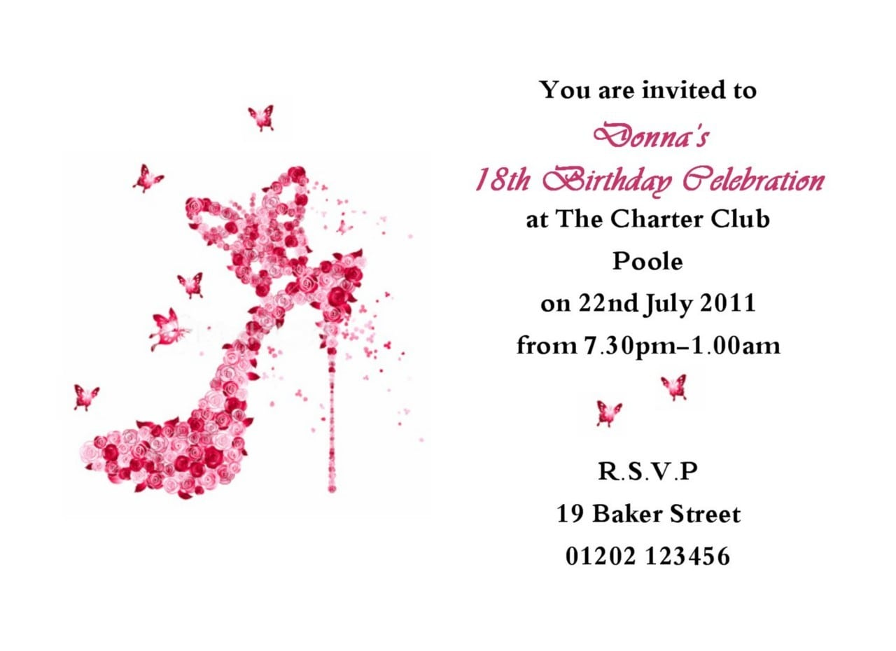 Invitation Wording For Birthday Party 30th Best Of 18th Birthday