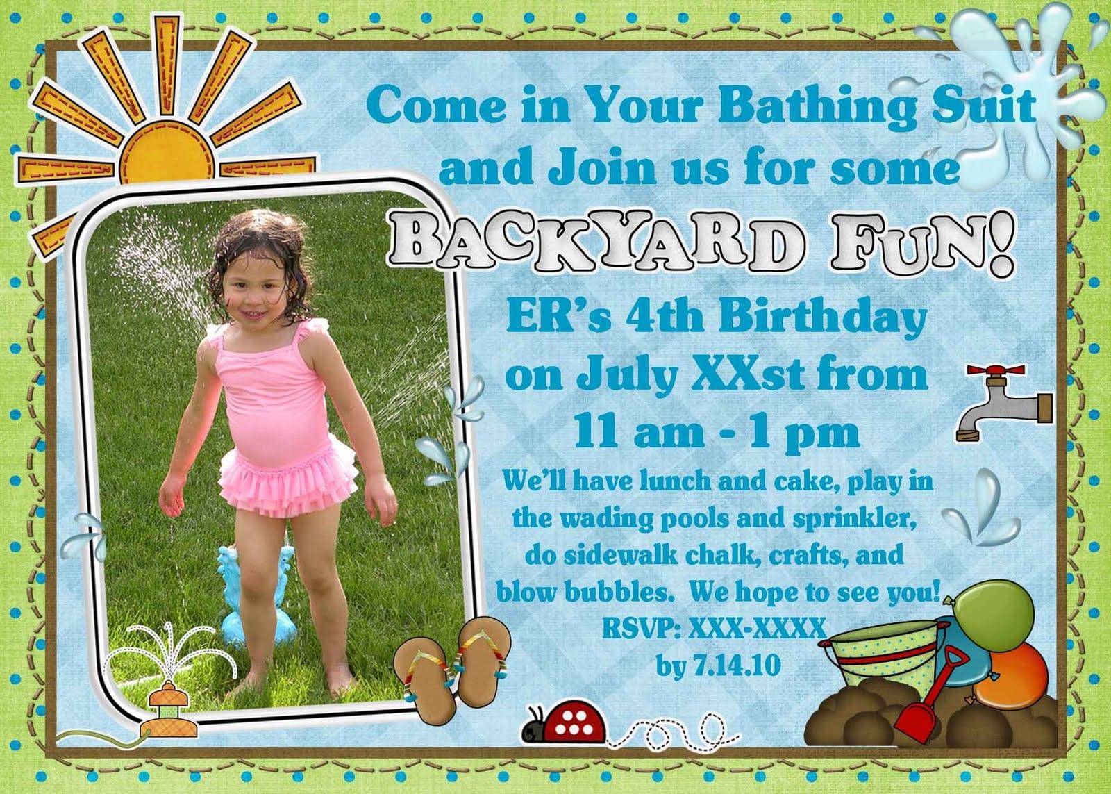 Katie's Nesting Spot  4th Birthday Party Invitation