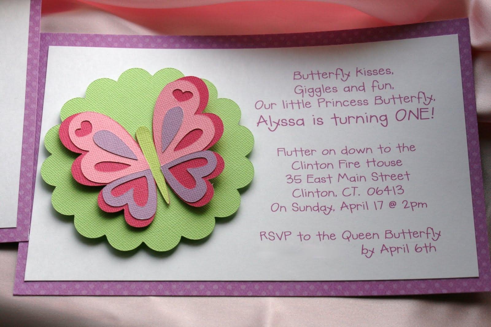 Kt Designs  Birthday Series  Butterfly Birthday Party Invitations