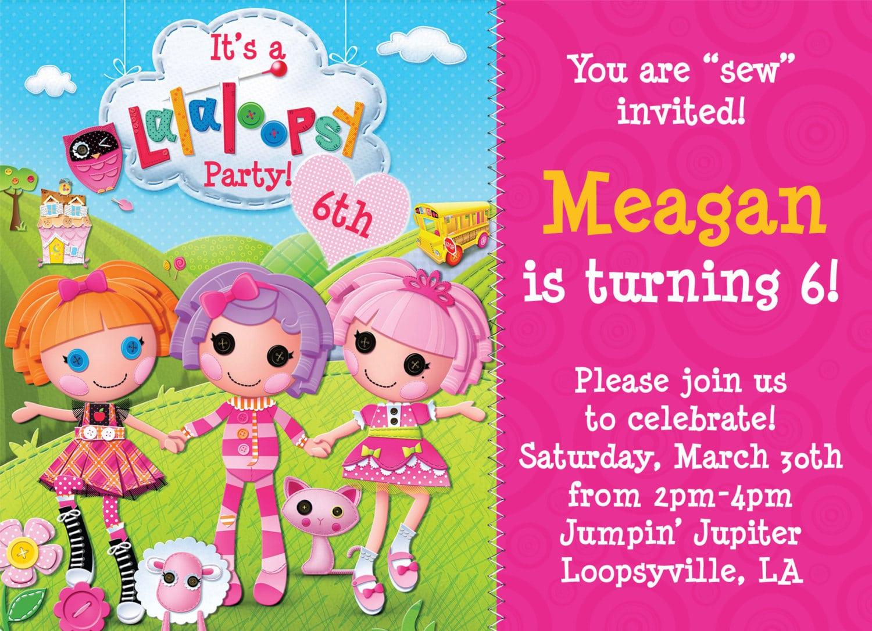 Lalaloopsy Invitation Templates Free