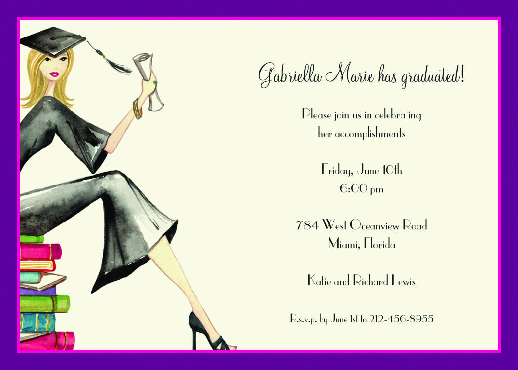 Law School Graduation Party Invitations