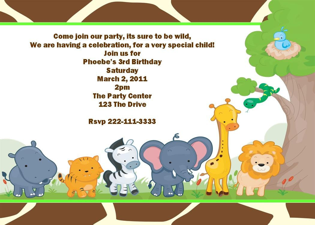 Leopard Party Invitations