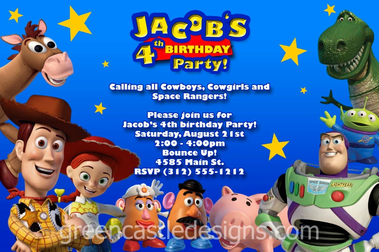 Marvellous Toy Story Birthday Invitations To Create Your Own