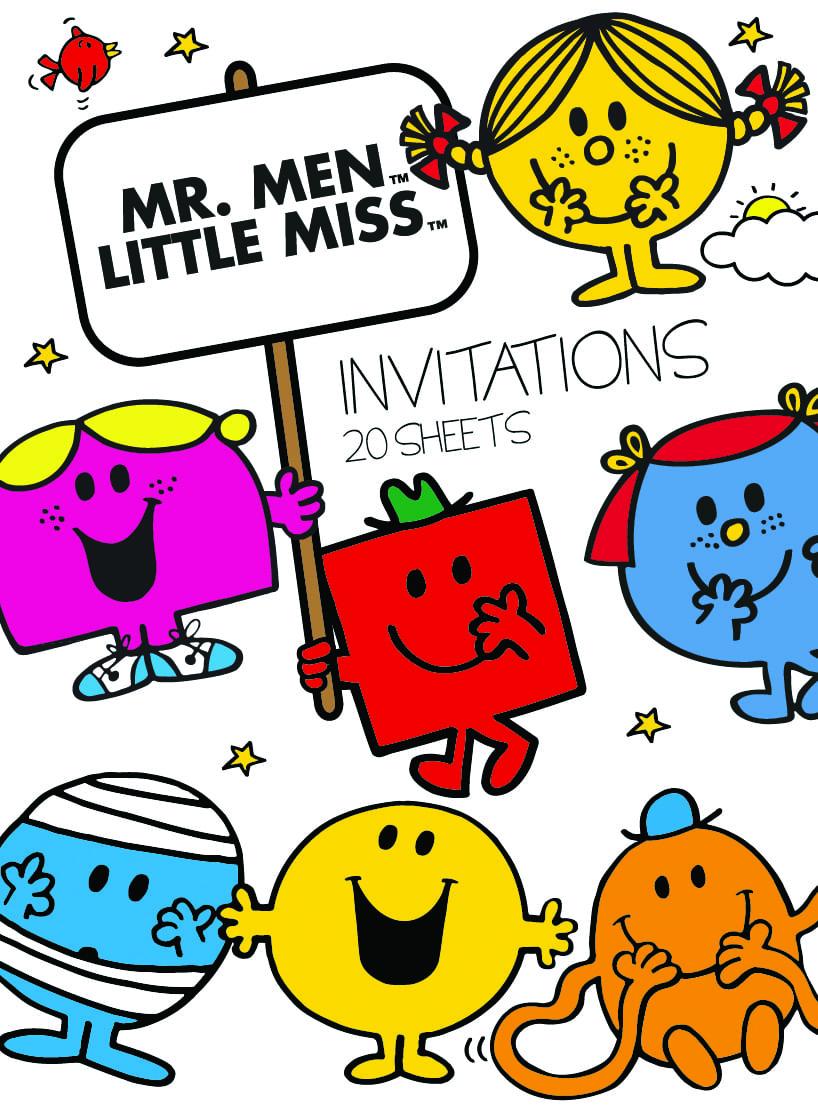 Mr Men Little Miss Party Invitation Pad