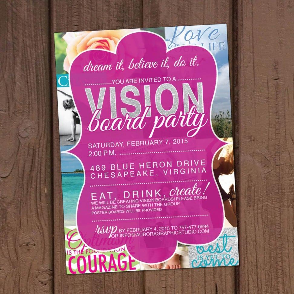 Party Invitation Templates Vision Board Party Invitation