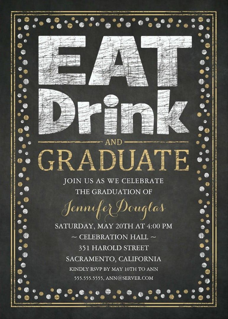 Party Invitations Unique Grad Party Invitations