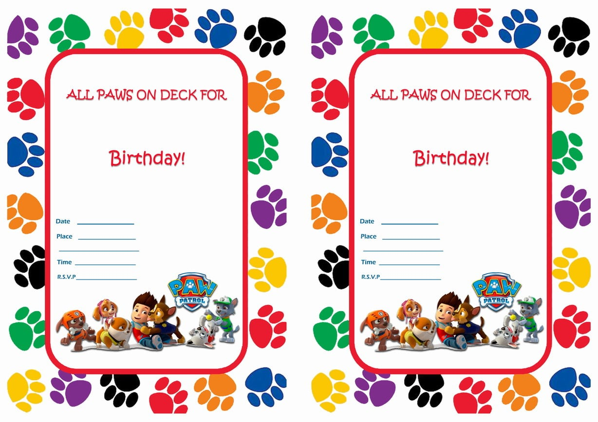Paw Patrol Party Invitations Paw Patrol Party Invitations With