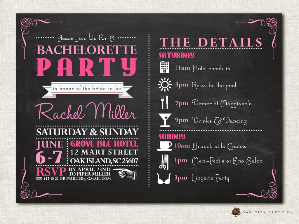 Popular Bachelorette Party Invitations As Diy Party Invitations