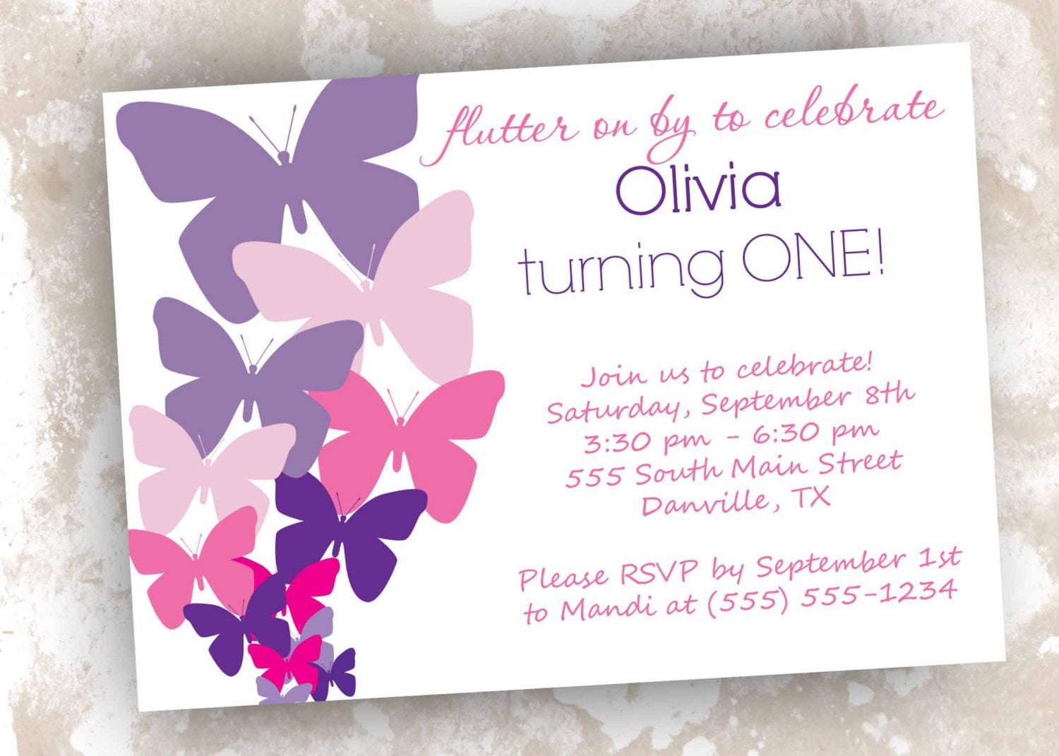 Printable Butterfly Themed Birthday Baby Shower Or By Designsbydvb
