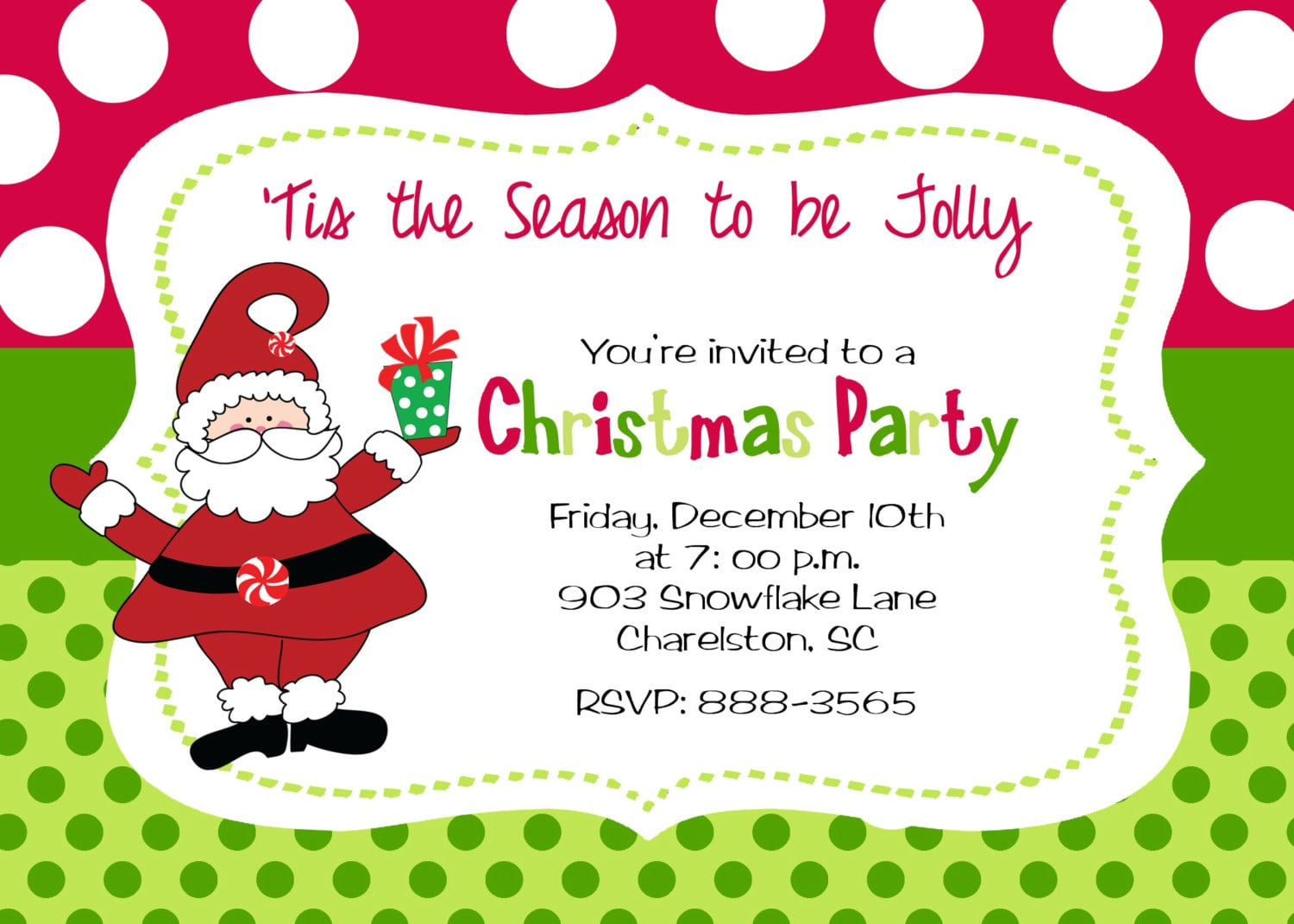 Printable Santa Clause Decals And Polka Dot Background With