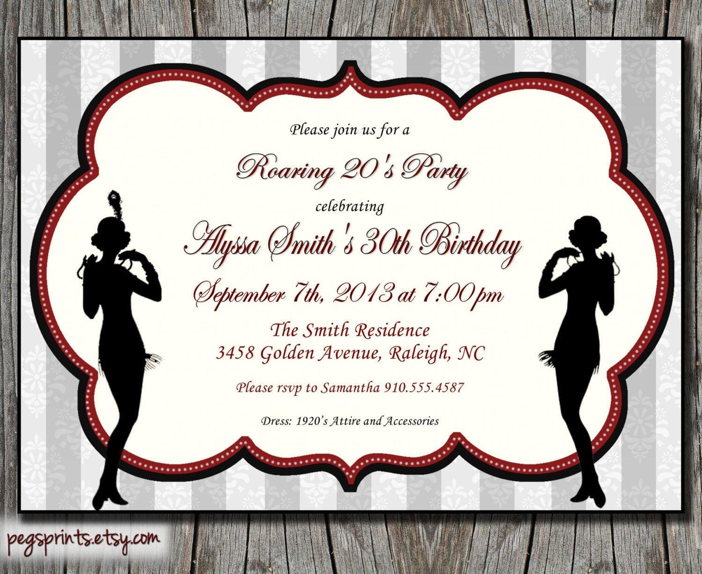Roaring 20s Invitation