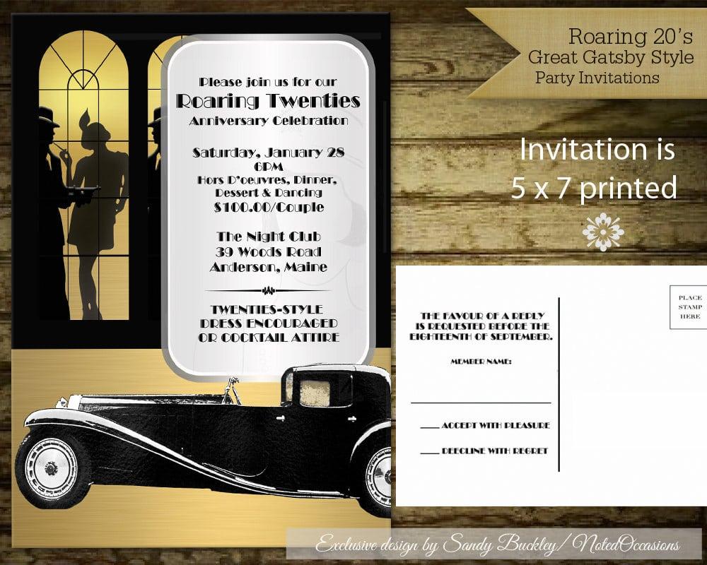 Roaring 20s Party Invitation Ideas - Mickey Mouse Invitations Templates