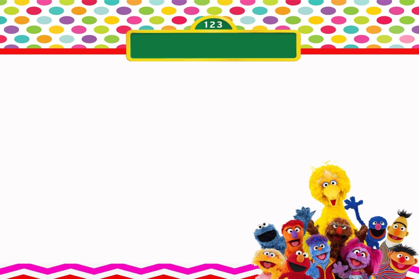 Sesame Street Invitation Free Template