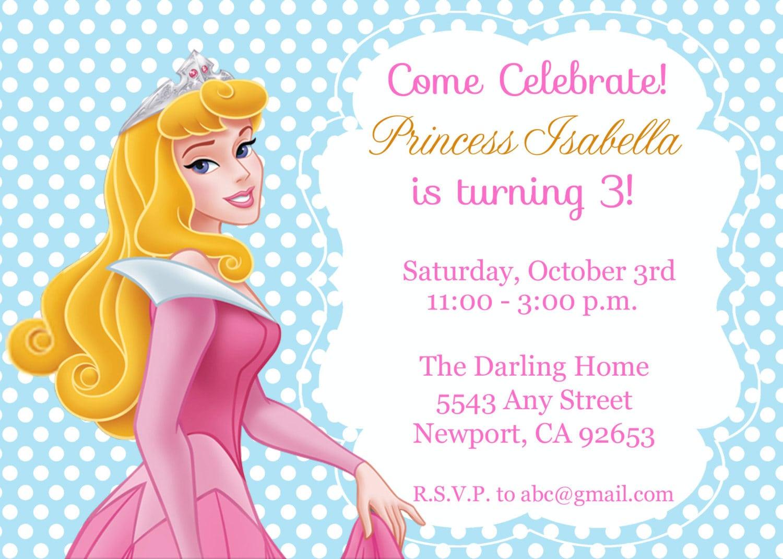 Sleeping Beauty Birthday Invitations