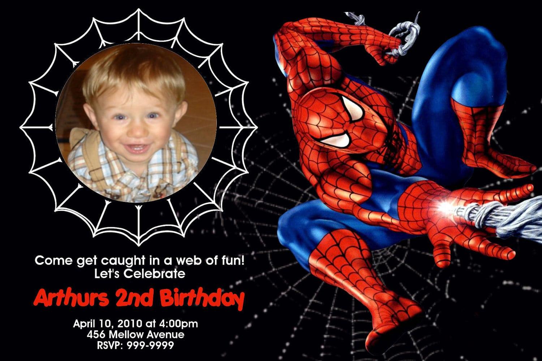 Spiderman Birthday Invitations Free — Liviroom Decors   Design For