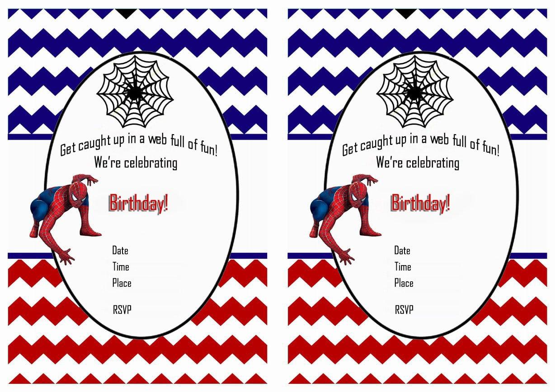 Spiderman Free Printable Birthday Party Invitations
