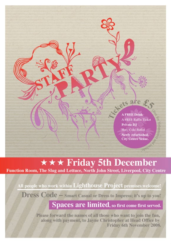 Staff Party Invitation