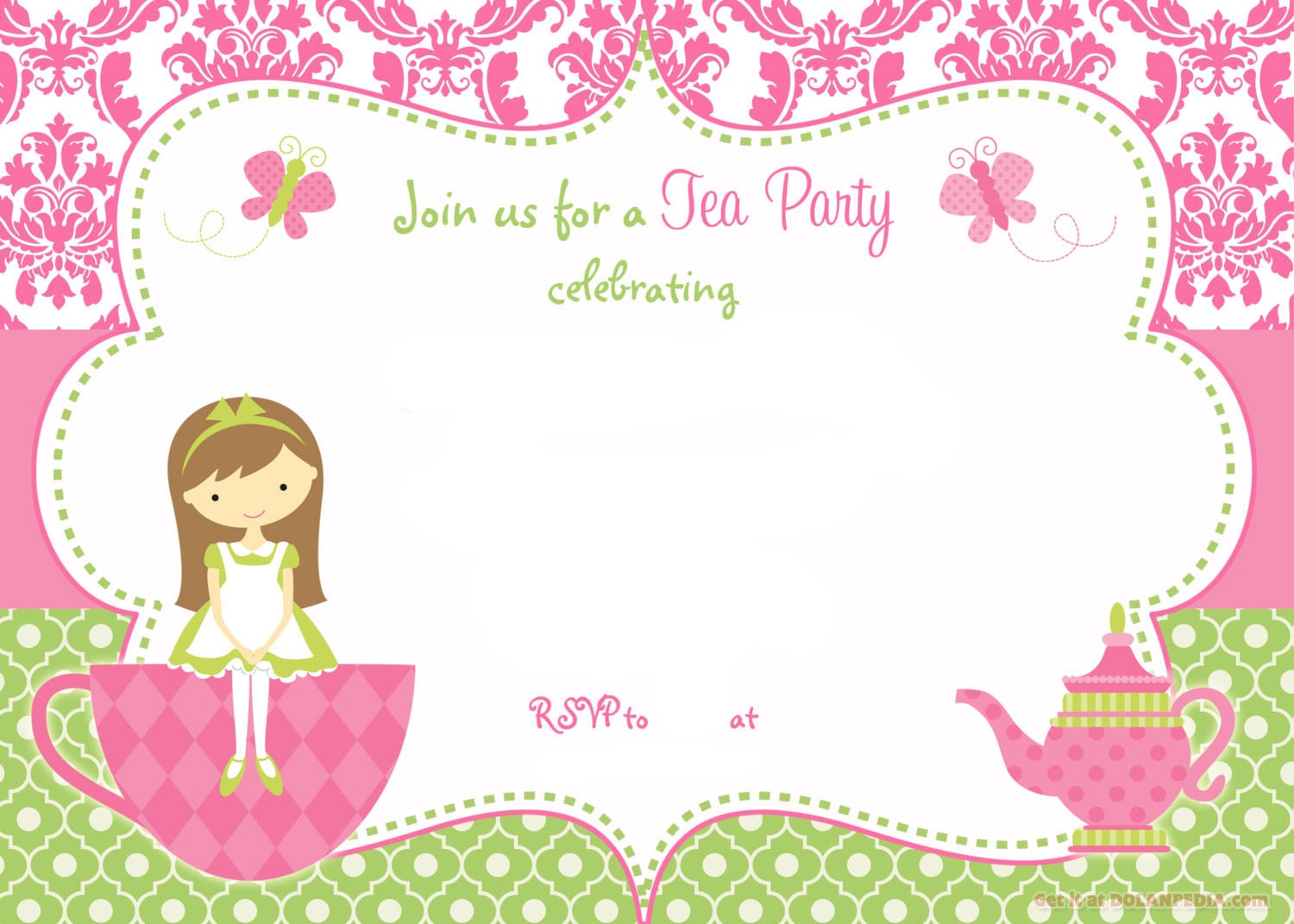 Party Invitations Template Free
