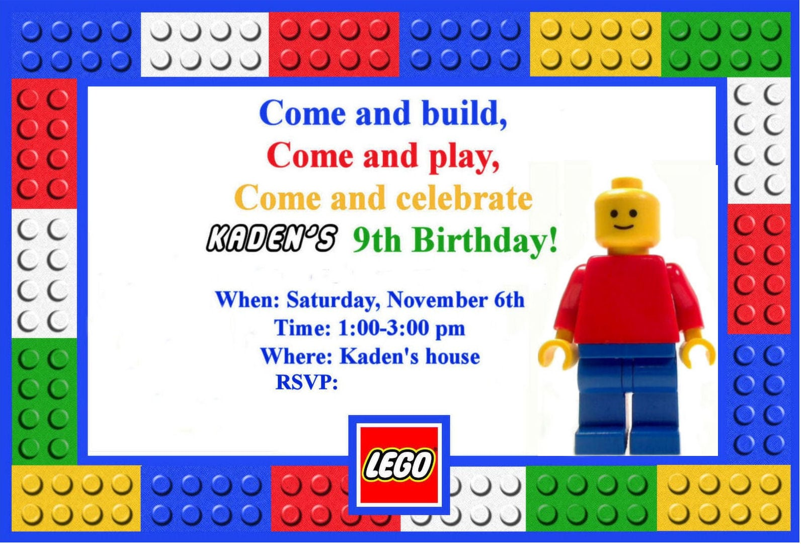 Terrific Lego Party Invitations For Additional Party Invitation