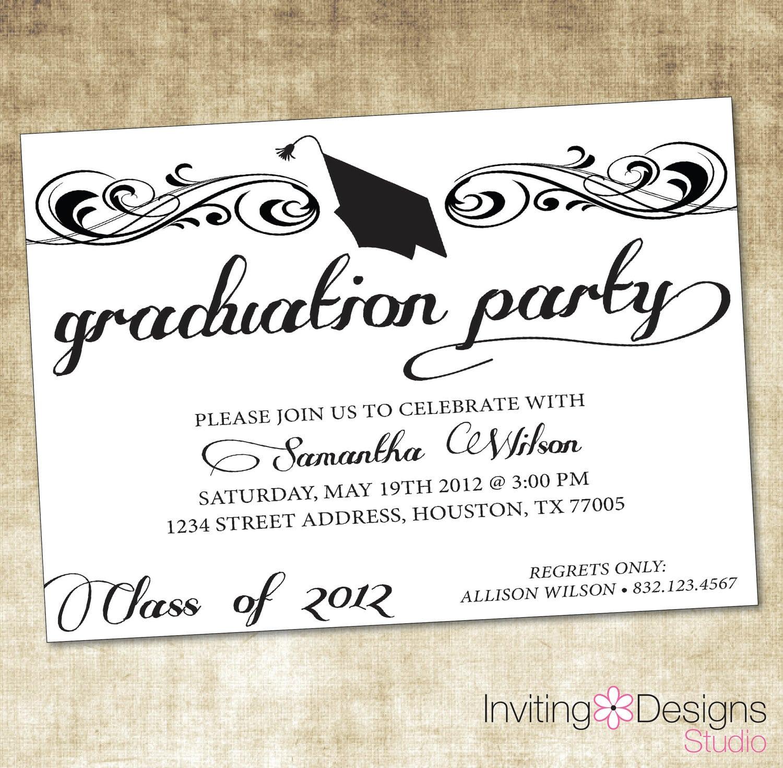 Themes   Custom Graduation Invitations 2015 Walmart In Conjunction