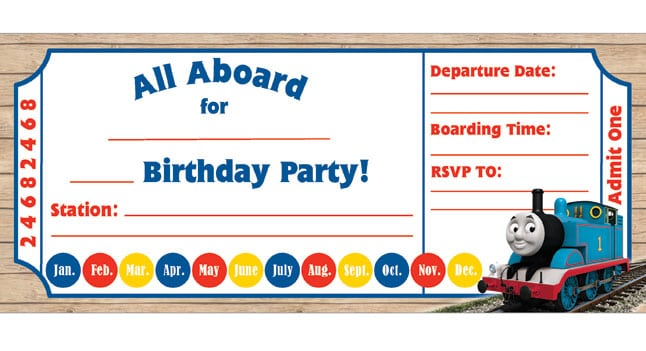 Thomas The Train Party Invitations Thomas The Train Party