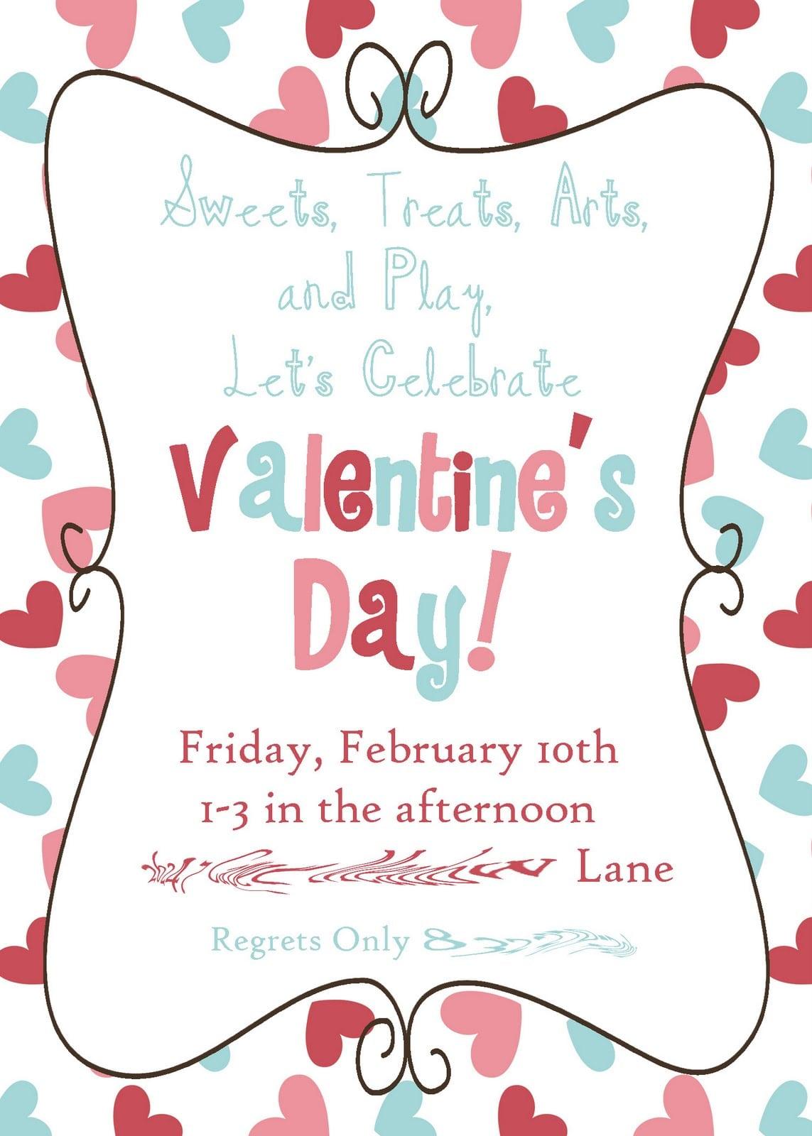Valentine Party Invitation Templates