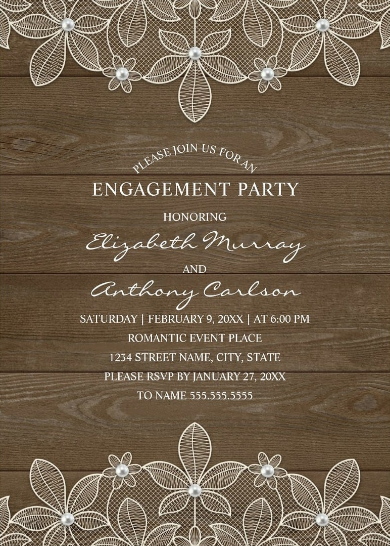 Vintage Engagement Party Invitations Archives