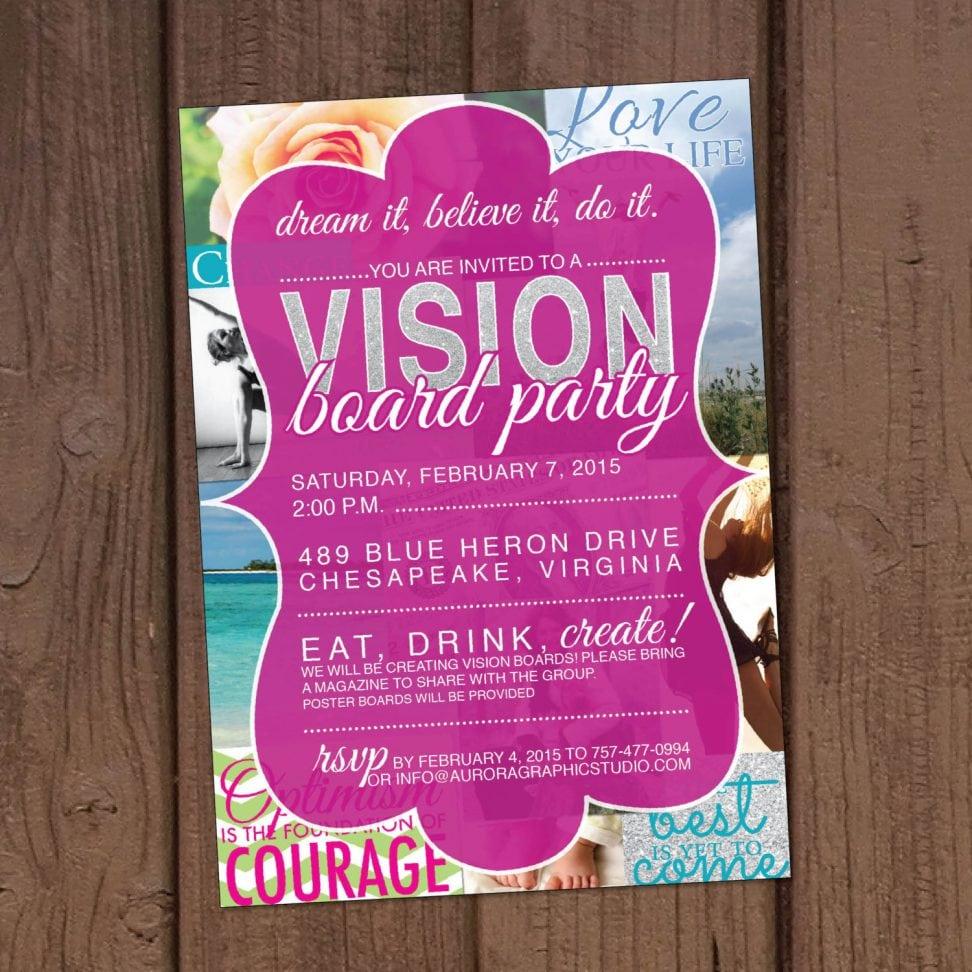 Vision Board Party Invitation Vision Board Party Invitation For