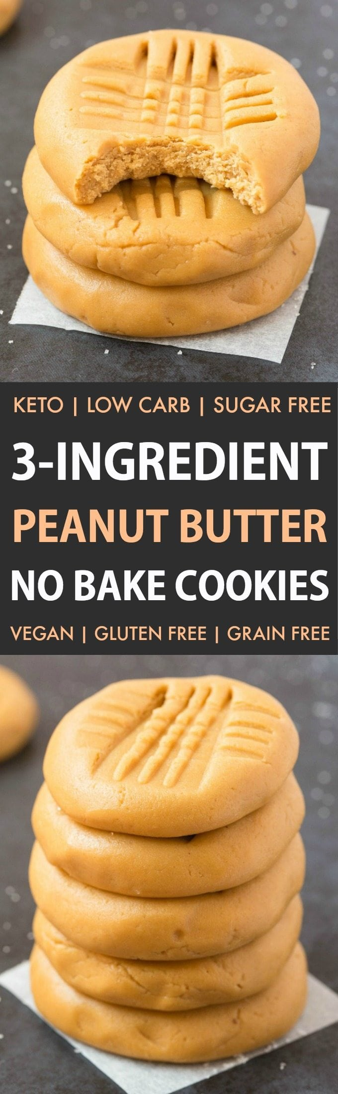 No Sugar Peanut Butter Cookies