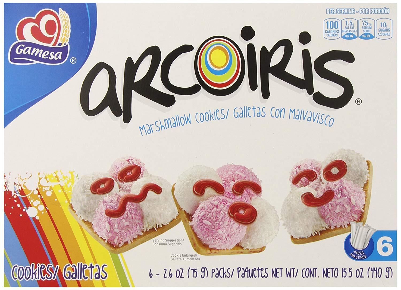 Amazon Com   Gamesa Arcoiriss Marshmallow Cookies, 15 5 Ounce