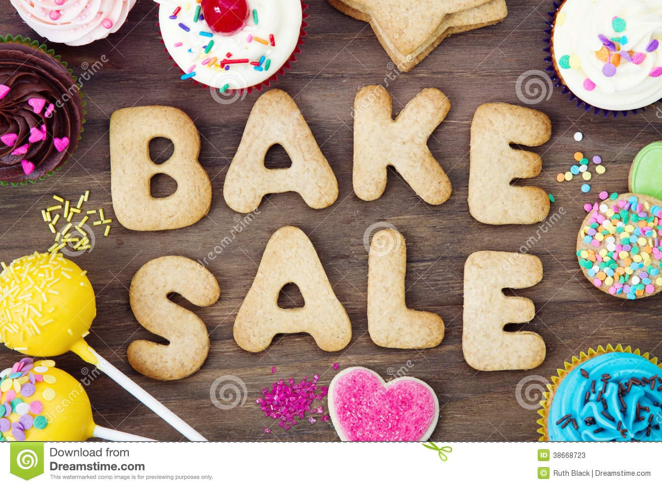 Bake Sale Cookies Stock Image  Image Of Letters, Cookie