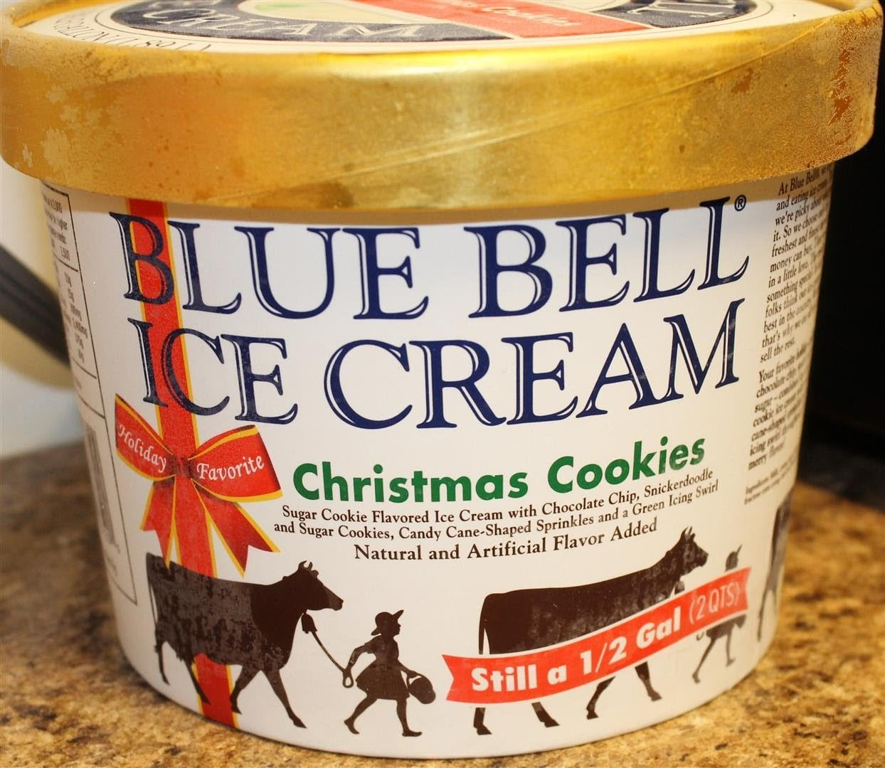 Blue Bell Christmas Cookie Ice Cream Review