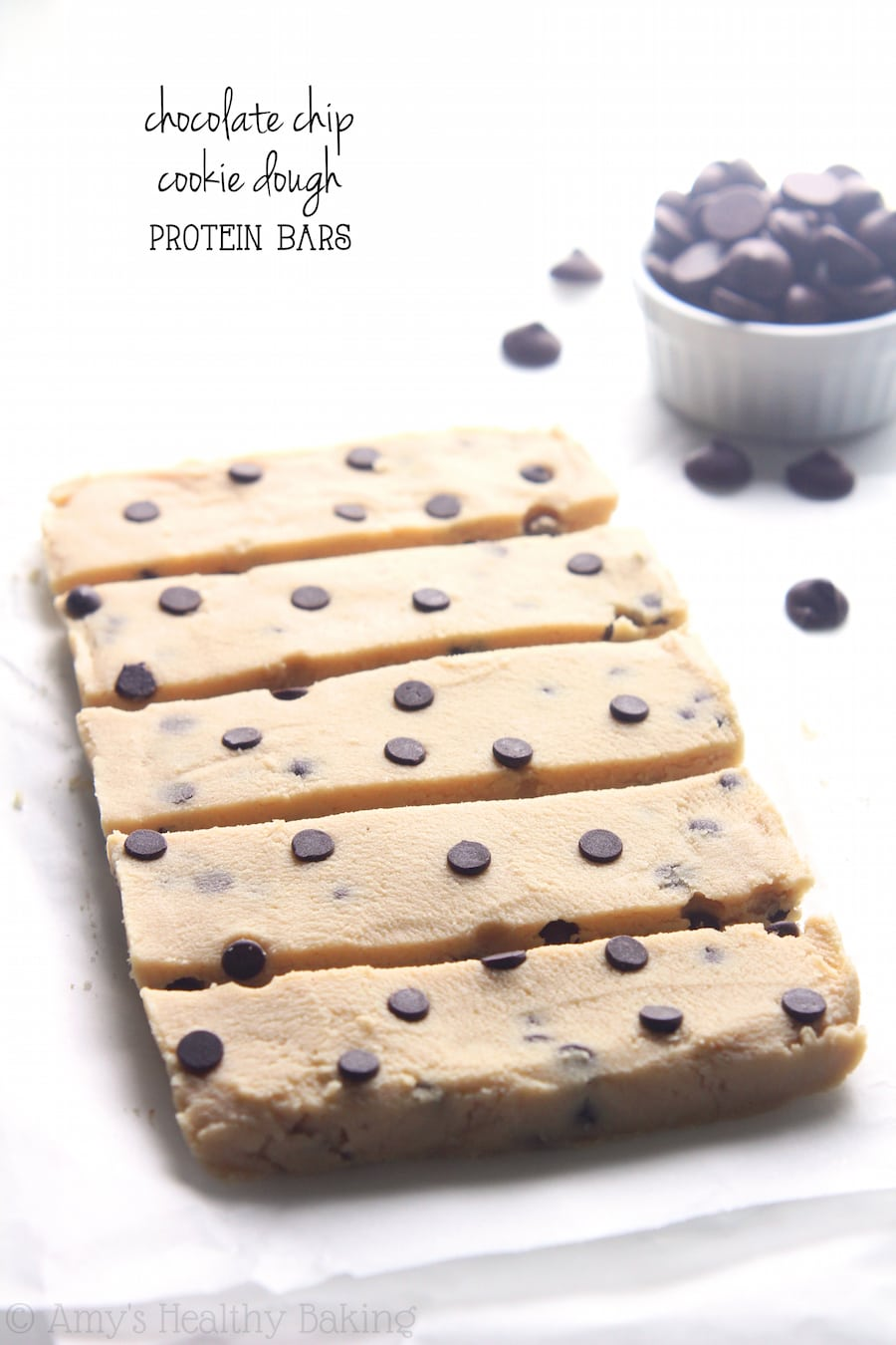 Chocolate Chip Cookie Dough Protein Bars {recipe Video!}