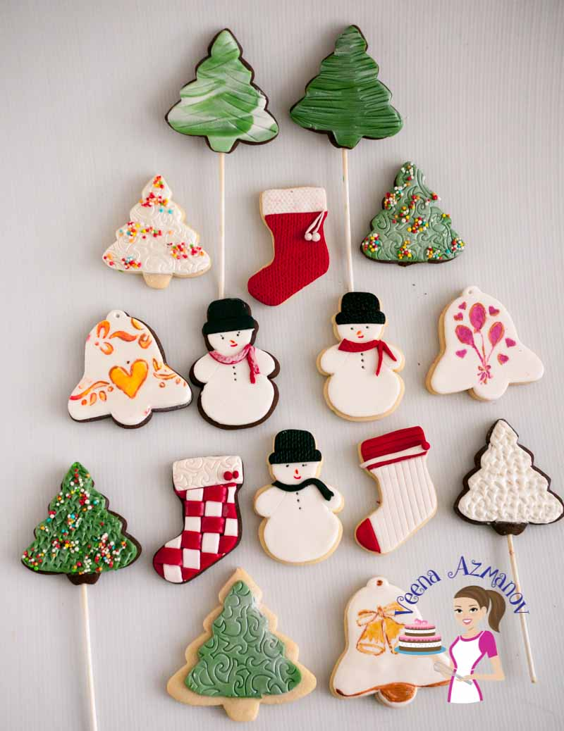 Christmas Cookie Decorating With Fondant Tutorial