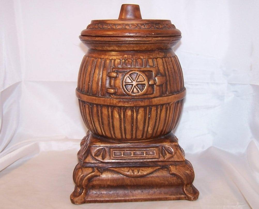 Cigar Store Indian Cookie Jar, Brown Glass