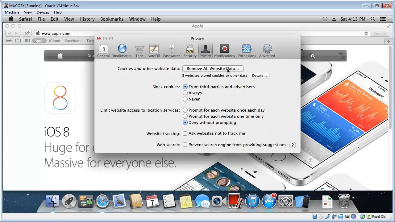 Clear History & Cookies In Safari (mac)
