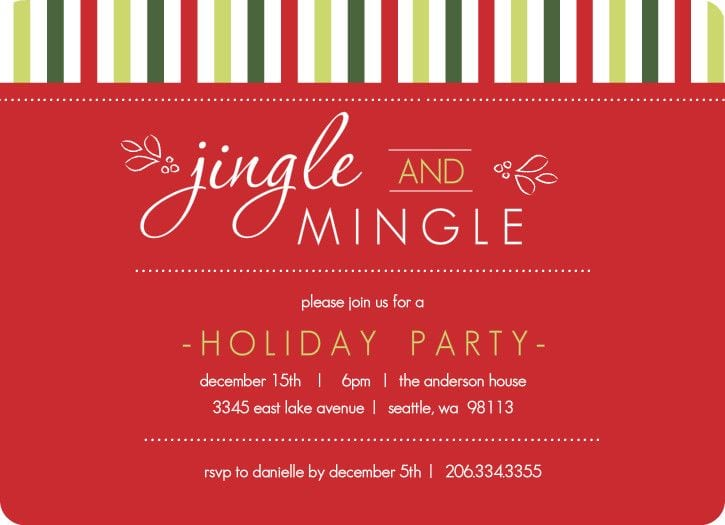 Company Holiday Party Invitation Business Social Invitation