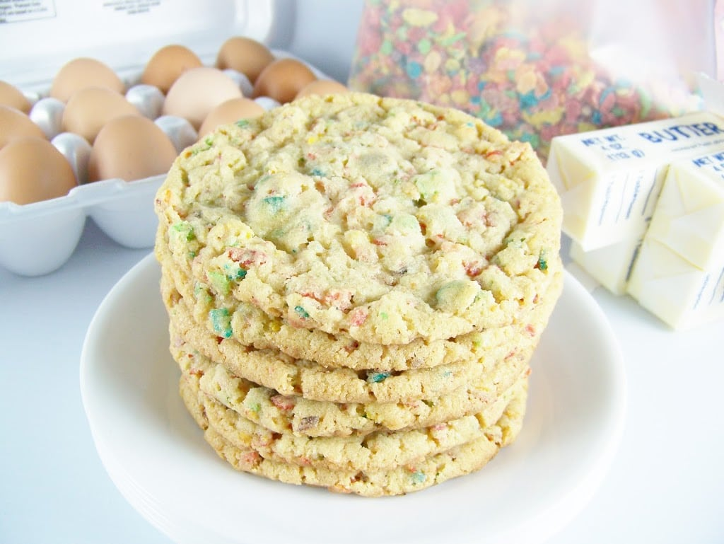 Fruity Pebbles Cookies   Kendra's Treats
