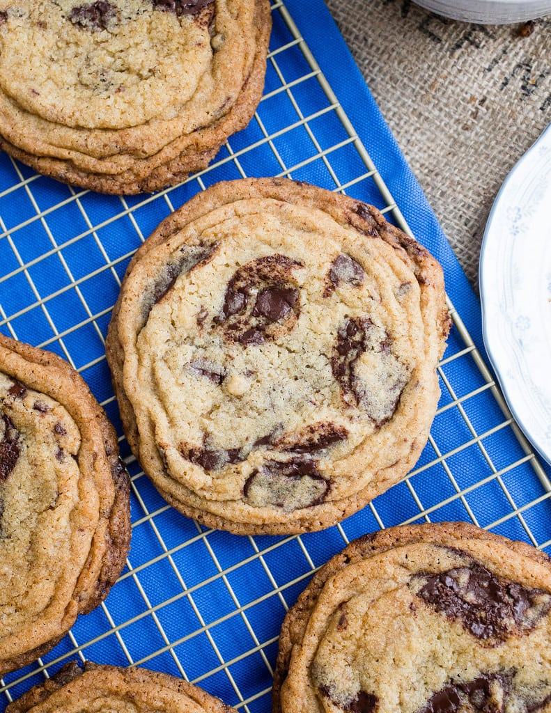 Giant Wrinkly Chocolate Chip Cookies
