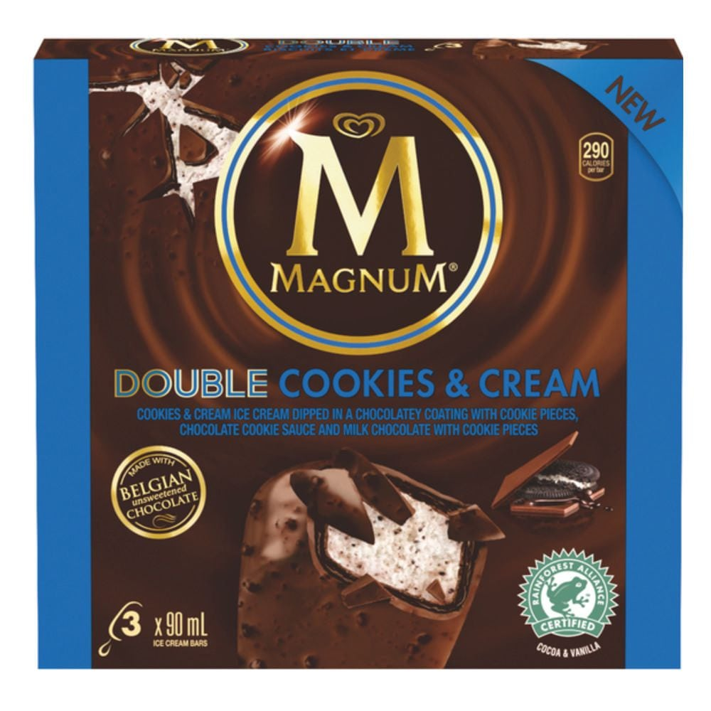 Magnum® Double Cookies & Cream Ice Cream 3x90ml