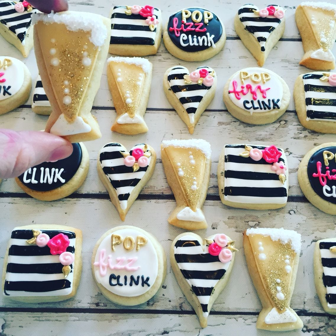 Mini Champagne Bachelorette Party Cookies By Hayleycakes And