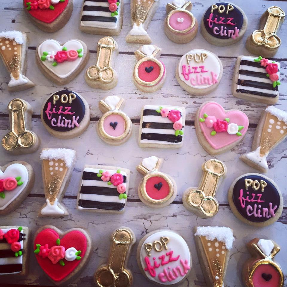 Mini Pop Fizz Clink Naughty Bachelorette Cookies
