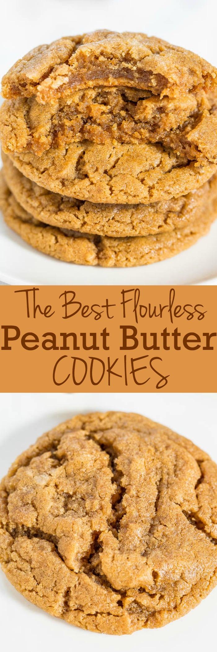 The Best Flourless Peanut Butter Cookies
