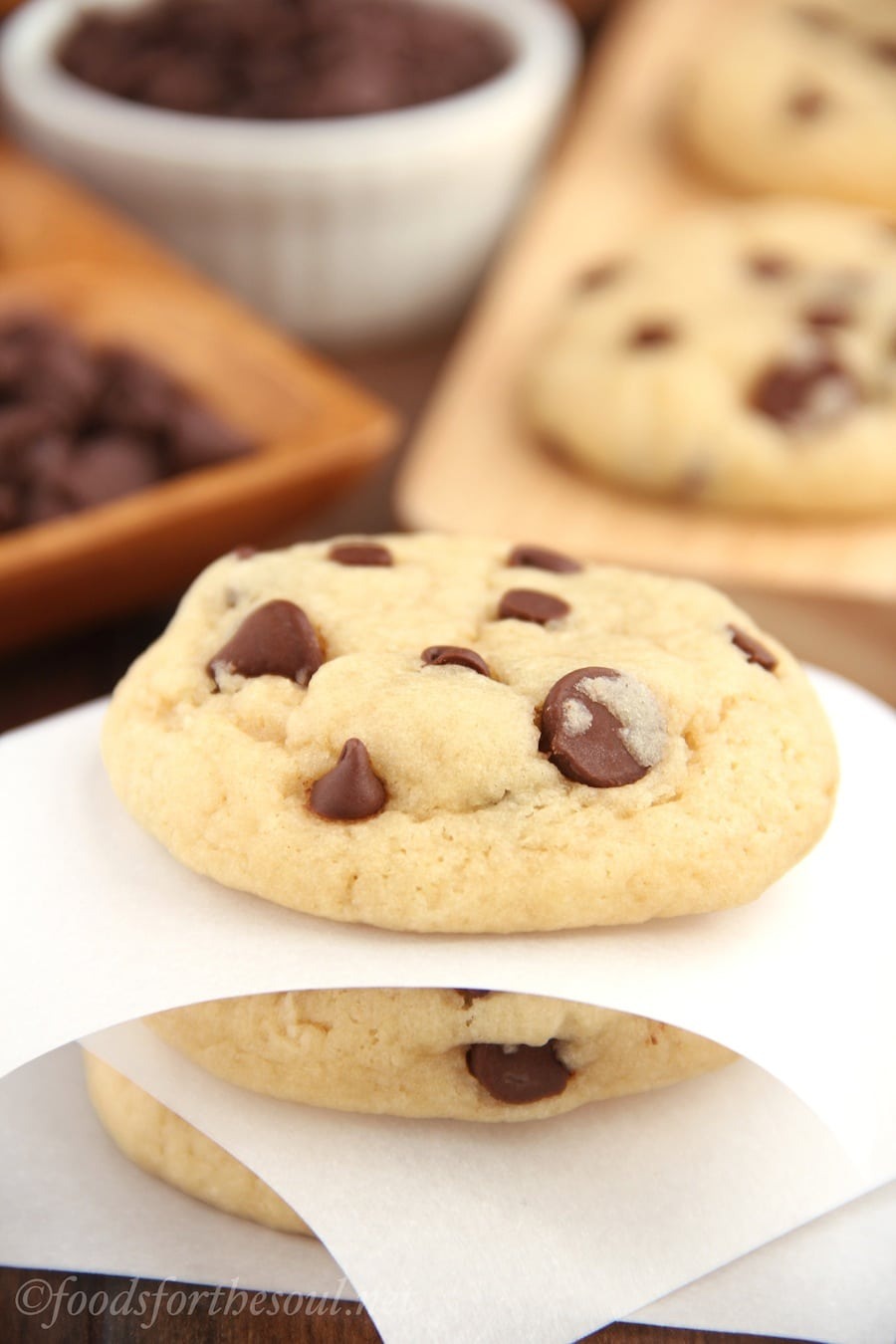 The Ultimate Healthy Soft & Chewy Chocolate Chip Cookies {recipe