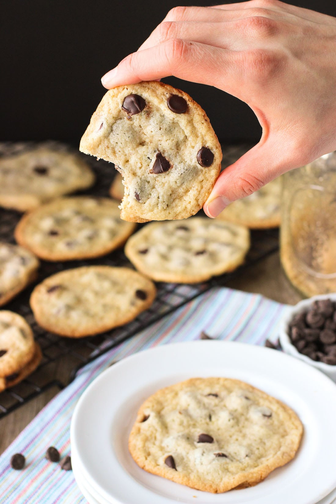 Thin And Chewy Chocolate Chip Cookies With Bisquick